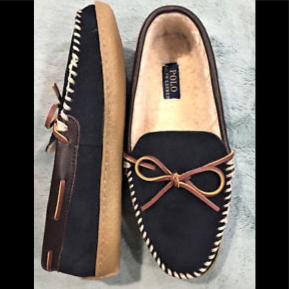 9e02af277 NEW Ralph Lauren Men's Size 10 Moccasin Slippers. M_5c302dd8409c155a815b9b2a